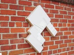 Mela M White Objects on White Tile